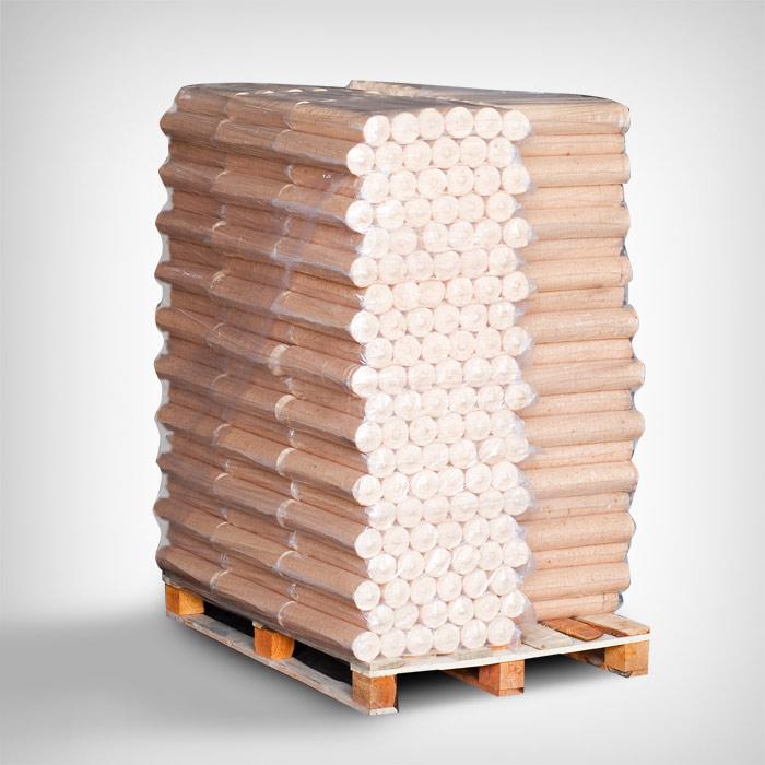Ümar puitbrikett 1000kg alusel (100x10kg)